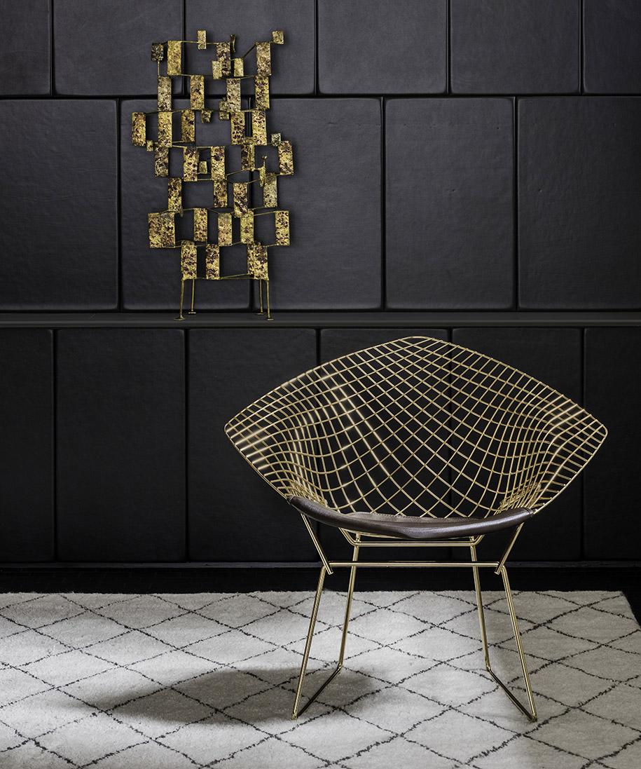 knoll introduces the bertoia diamond chair habitus living. Black Bedroom Furniture Sets. Home Design Ideas