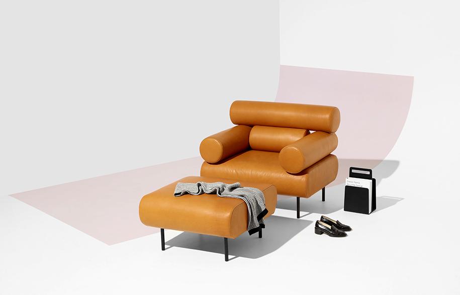 DesignByThem cabin range tan leather armchair