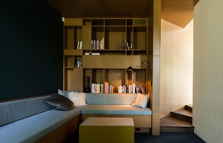 Glamuzina Architects Matakana snug library