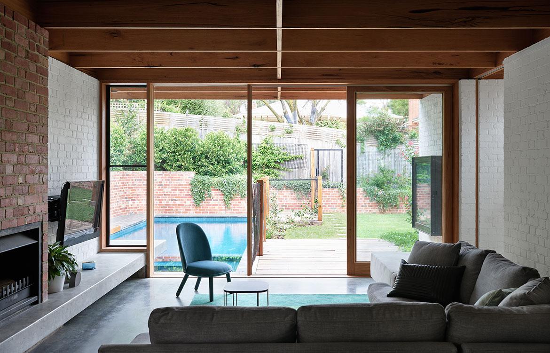 Glen Iris House Pleysier Perskins lounge room