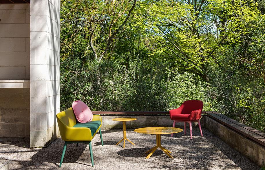 Oscar-Sofa-and-Cushions,-Otto-Side-and-Coffee-Table,-Oscar-Chair