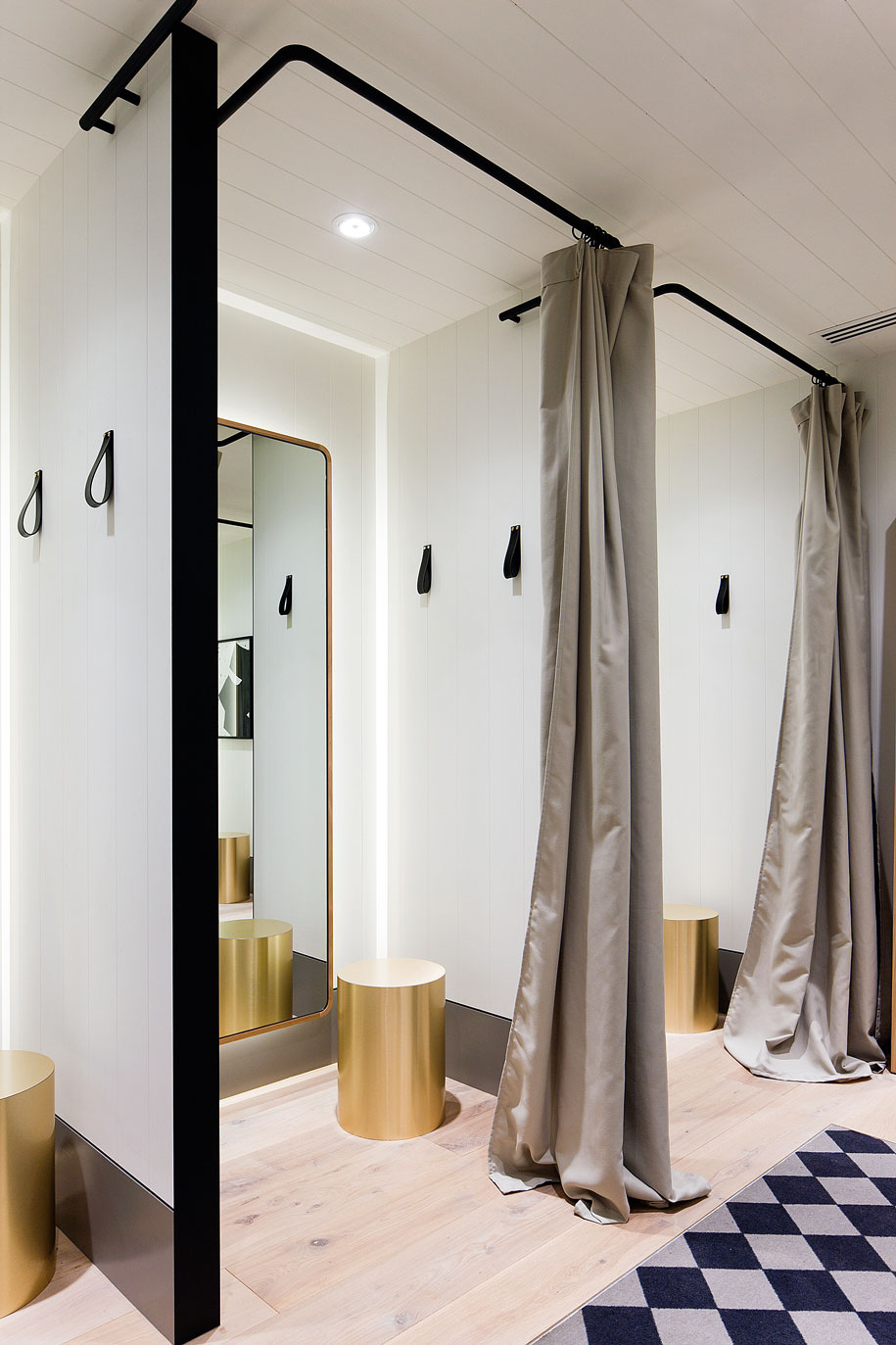 Fitting Room Designs For Retail: Monochromatic Magic: Seed Store By Mim Design