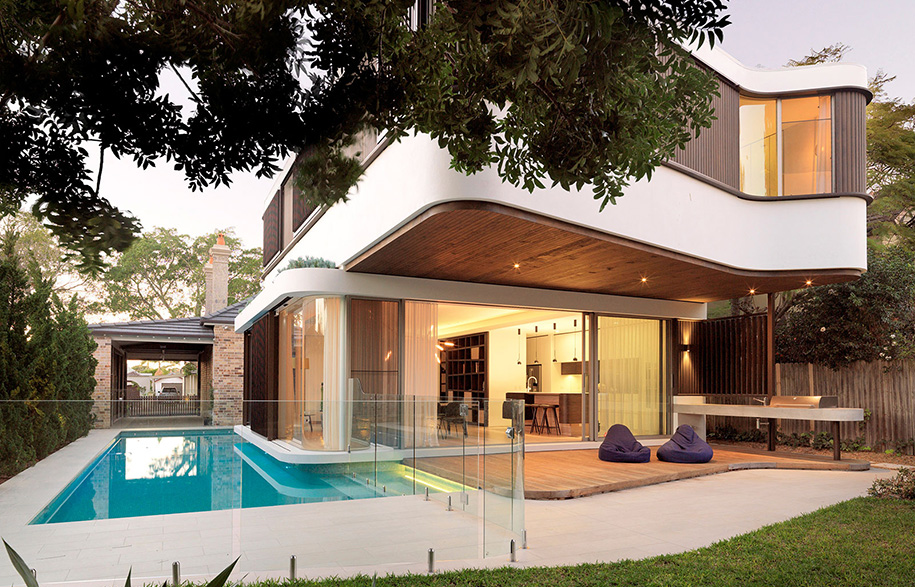 luigi rosselli architects pool house justin alexander backyard
